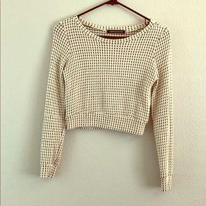 Long sleeve crop top blouse